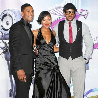 Pooch Hall, Meagan Good, Hosea Chanchez in The 11th Annual BET Awards - Press Room