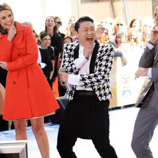 Tamron Hall, Savannah Guthrie, PSY, Matt Lauer in PSY Performing Live as Part of NBC's Today Show Concert Series