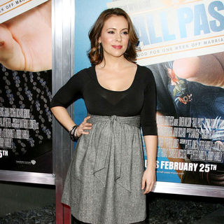 "Alyssa Milano in Los Angeles Premiere of Warner Bros. Pictures' ""Hall Pass"""