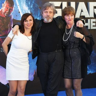 Chelsea Hamill, Mark Hamill, Marilou York in UK Premiere of Guardians of the Galaxy - Arrivals