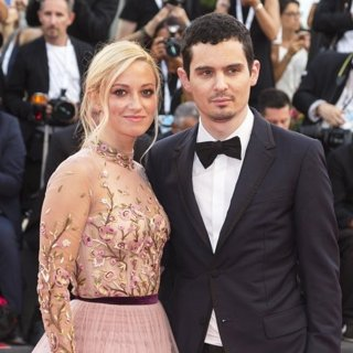 Olivia Hamilton, Damien Chazelle in 75th International Venice Film Festival - First Man - Premiere