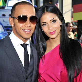 Lewis Hamilton, Nicole Scherzinger in The Los Angeles Premiere of Cars 2 - Arrivals