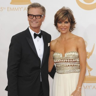Harry Hamlin, Lisa Rinna in 65th Annual Primetime Emmy Awards - Arrivals