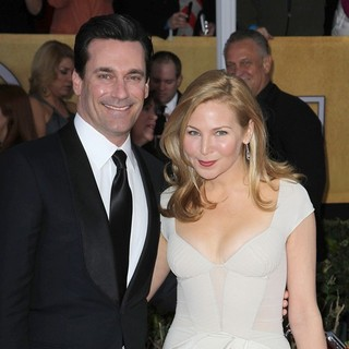 Jon Hamm, Jennifer Westfeldt in 19th Annual Screen Actors Guild Awards - Arrivals
