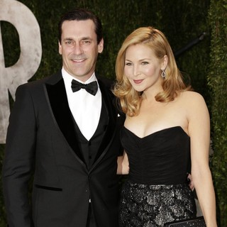 Jon Hamm, Jennifer Westfeldt in 2013 Vanity Fair Oscar Party - Arrivals
