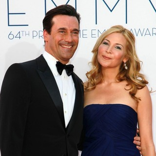 Jon Hamm, Jennifer Westfeldt in 64th Annual Primetime Emmy Awards - Arrivals
