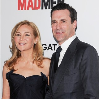 Jennifer Westfeldt, Jon Hamm in AMC's Mad Men - Season 6 Premiere