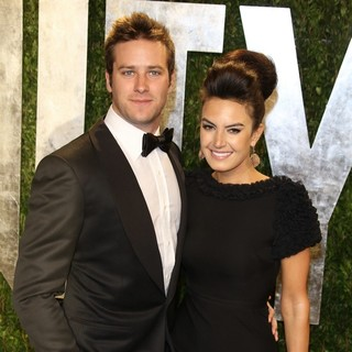 Armie Hammer, Elizabeth Chambers in 2013 Vanity Fair Oscar Party - Arrivals