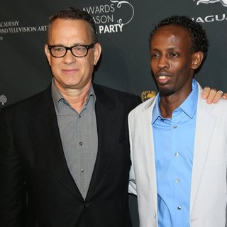 Tom Hanks, Barkhad Abdi in 2014 BAFTA Los Angeles Awards Season Tea Party