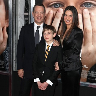 Tom Hanks, Thomas Horn, Sandra Bullock in The New York Premiere of Extremely Loud and Incredibly Close - Arrivals