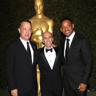 Tom Hanks, Jeffrey Katzenberg, Will Smith in The Academy of Motion Pictures Arts and Sciences' 4th Annual Governors Awards - Arrivals