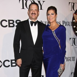Tom Hanks, Rita Wilson in The 67th Annual Tony Awards - Arrivals
