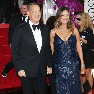 Tom Hanks, Rita Wilson in 71st Annual Golden Globe Awards - Arrivals