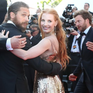 Tom Hardy, Jessica Chastain, Jason Clarke in Lawless Premiere - During The 65th Annual Cannes Film Festival