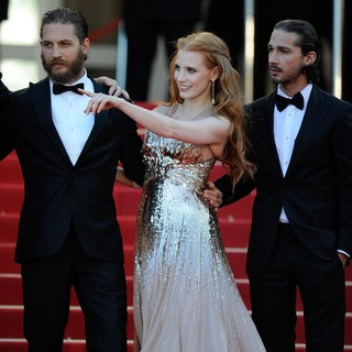 Tom Hardy, Jessica Chastain, Shia LaBeouf in Lawless Premiere - During The 65th Annual Cannes Film Festival