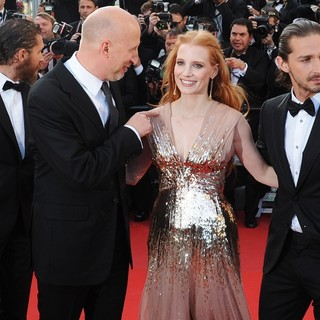 Tom Hardy, John Hillcoat, Jessica Chastain, Shia LaBeouf in Lawless Premiere - During The 65th Annual Cannes Film Festival