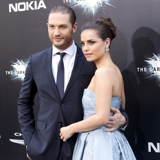 Tom Hardy, Charlotte Riley in The Dark Knight Rises New York Premiere - Arrivals