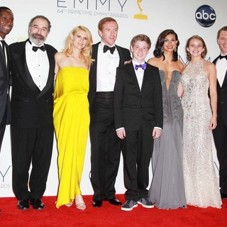 David Harewood, Mandy Patinkin, Claire Danes, Damian Lewis, Jackson Pace, Morena Baccarin, Morgan Saylor, Diego Klattenhoff in 64th Annual Primetime Emmy Awards - Press Room