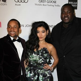 Hill Harper, Chloe Flower, Quinton Aaron in 21st Annual Elton John AIDS Foundation's Oscar Viewing Party