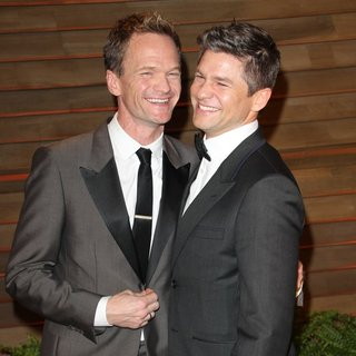 Neil Patrick Harris, David Burtka in 2014 Vanity Fair Oscar Party
