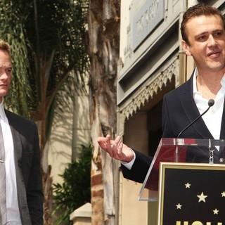 Neil Patrick Harris, Jason Segel in Neil Patrick Harris Hollywood Walk of Fame Induction Ceremony