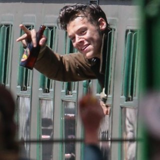 Harry Styles on The Set of Dunkirk