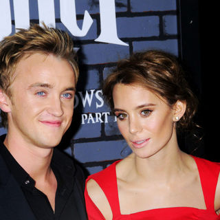 Tom Felton, Jade Gordon in The Premiere of 'Harry Potter and the Deathly Hallows: Part I'
