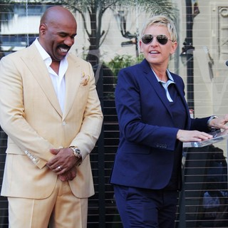 Ellen DeGeneres - Steve Harvey Is Honoured with A Star on The Hollywood Walk of Fame