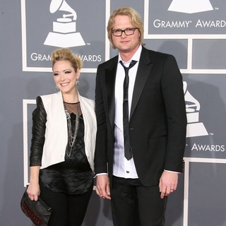 Nikki Hassman, Adam Anders in 54th Annual GRAMMY Awards - Arrivals