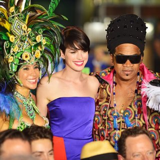 Anne Hathaway, Carlinhos Brown in Rio 2 Premiere