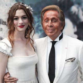 Anne Hathaway, Valentino Garavani in The White Fairy Tale Love Ball - Arrivals