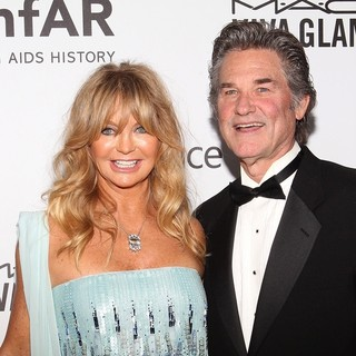 Goldie Hawn, Kurt Russell in 2013 amfAR Inspiration Gala Los Angeles Presented by MAC Viva Glam