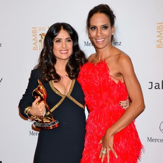 Salma Hayek, Barbara Becker in Bambi Awards 2012