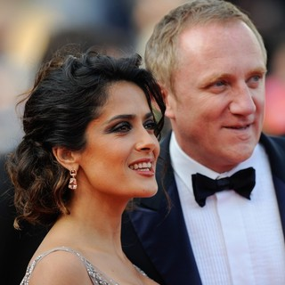 Salma Hayek, Francois-Henri Pinault in Madagascar 3: Europe's Most Wanted Premiere- During The 65th Cannes Film Festival