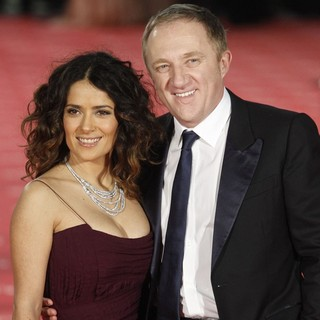 Salma Hayek, Francois-Henri Pinault in Goya Cinema Awards 2012 Ceremony - Arrivals