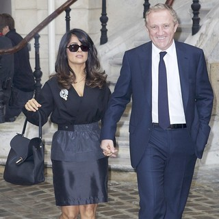Salma Hayek - Paris Fashion Week Spring/Summer 2013 - Balenciaga