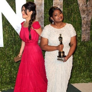 Salma Hayek, Octavia Spencer in 2012 Vanity Fair Oscar Party - Arrivals