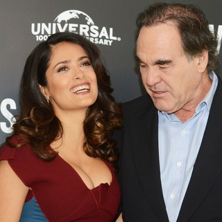 Salma Hayek, Oliver Stone in Savages Photocall