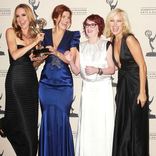 Erinn Hayes, Lake Bell, Megan Mullally, Malin Akerman in 2012 Creative Arts Emmy Awards - Press Room