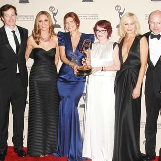Erinn Hayes, Lake Bell, Megan Mullally, Malin Akerman, Rob Corddry in 2012 Creative Arts Emmy Awards - Press Room
