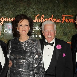 Fred Hayman, Vicki Reynolds, Jerry Magnin, Murray Pepper in Opening Night Gala of The Wallis Annenberg Center for The Performing Arts