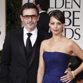 Michel Hazanavicius, Berenice Bejo in The 69th Annual Golden Globe Awards - Arrivals