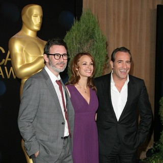 Michel Hazanavicius, Berenice Bejo, Jean Dujardin in 84th Annual Academy Awards Nominees Luncheon