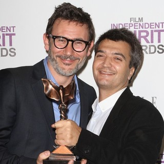 Michel Hazanavicius, Thomas Langmann in 27th Annual Independent Spirit Awards - Press Room