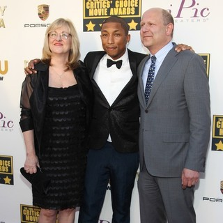Janet Healy, Pharrell Williams, Christopher Meledandri in The 19th Annual Critics' Choice Awards