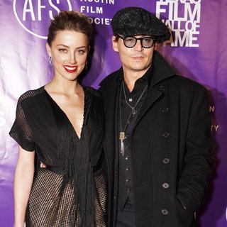 Amber Heard, Johnny Depp in 2014 Texas Film Hall of Fame Awards - Arrivals