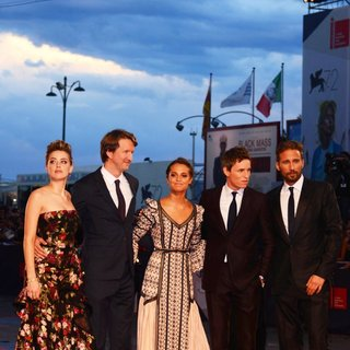 Amber Heard, Tom Hooper, Alicia Vikander, Eddie Redmayne, Matthias Schoenaerts in 72nd Venice Film Festival - The Danish Girl - Premiere
