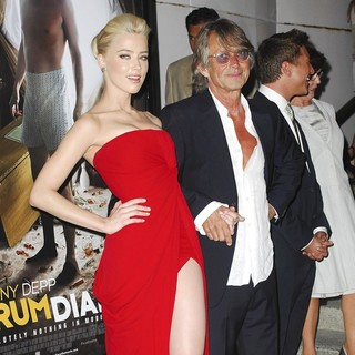 Amber Heard, Bruce Robinson in The Rum Diary Premiere - Arrivals