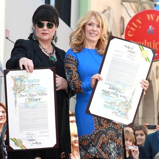 Ann Wilson, Nancy Wilson, Heart in Heart Is Honored with A Hollywood Star on The Hollywood Walk of Fame