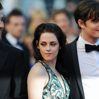 Garrett Hedlund, Kristen Stewart, Sam Riley in On the Road Premiere - During The 65th Cannes Film Festival